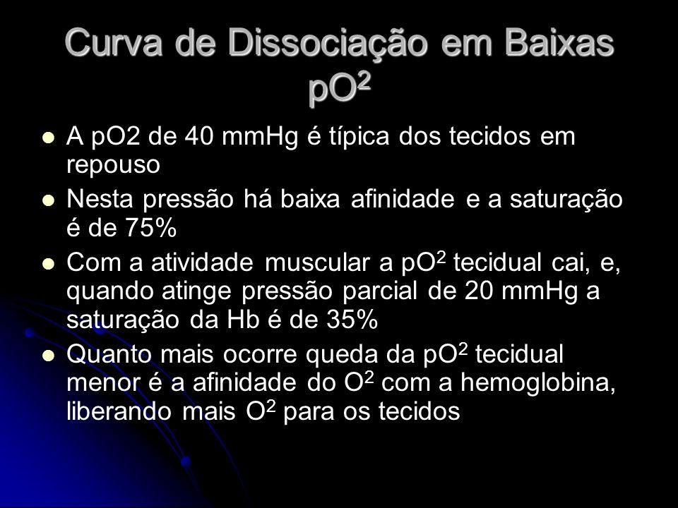 Curva de Dissociação em Baixas pO2