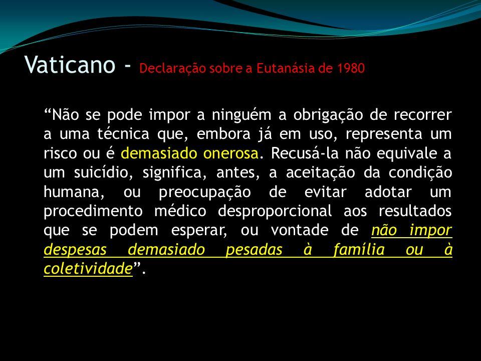 Vaticano - Declaração sobre a Eutanásia de 1980