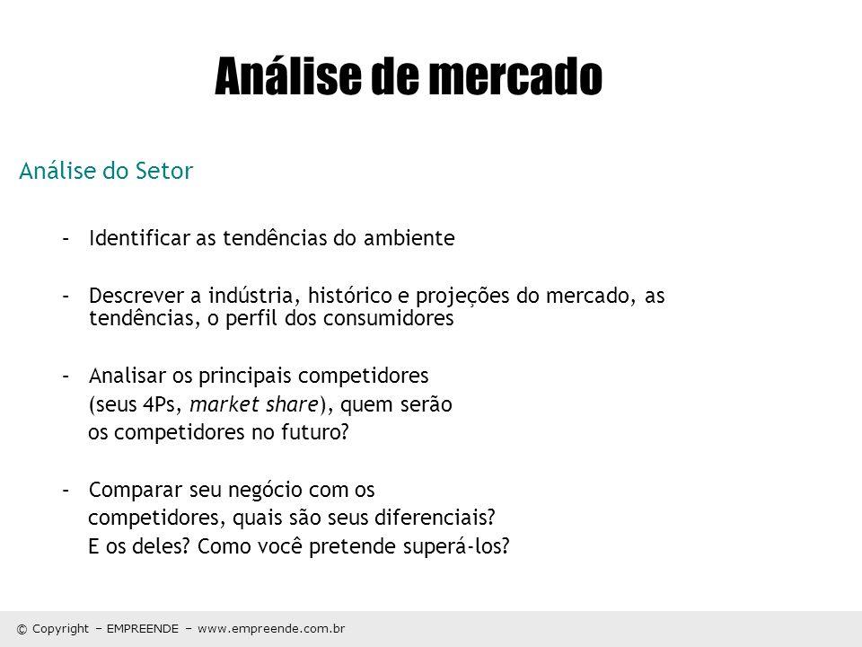 Análise de mercado Análise do Setor
