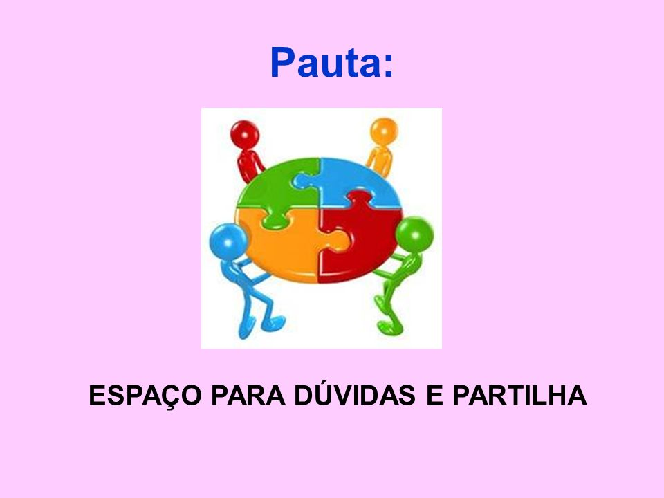 ESPAÇO PARA DÚVIDAS E PARTILHA