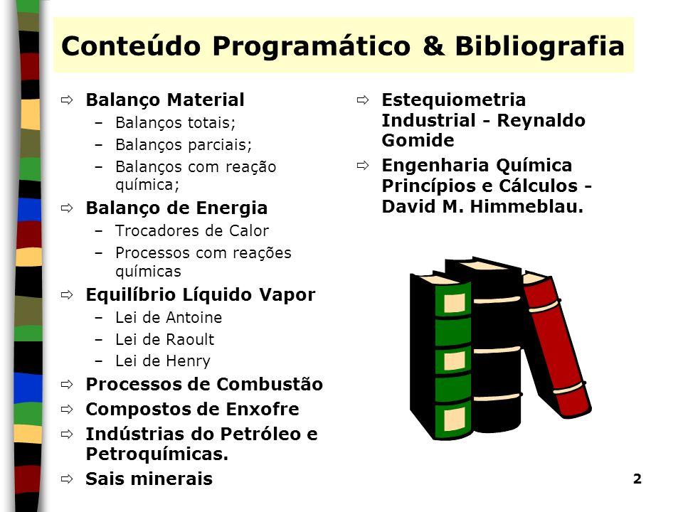 Conteúdo Programático & Bibliografia