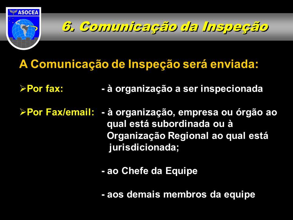6. Comunicação da Inspeção