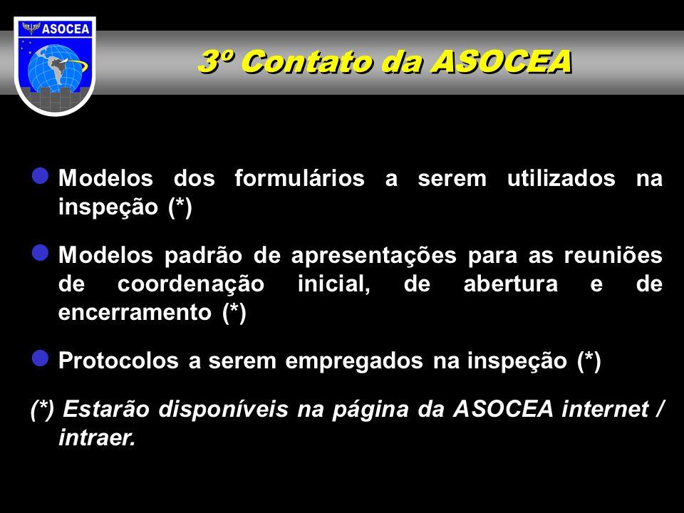 3º Contato da ASOCEA Modelos dos formulários a serem utilizados na inspeção (*)