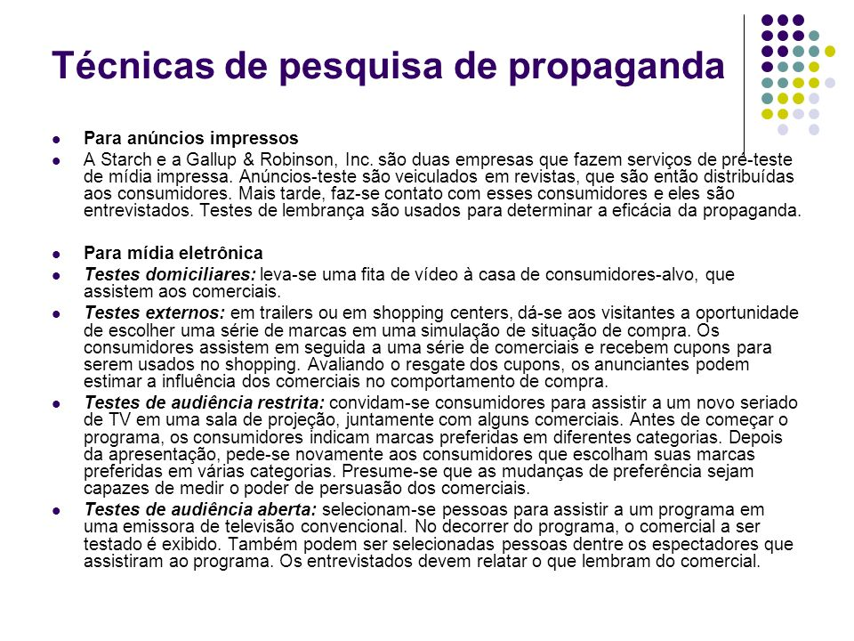 Técnicas de pesquisa de propaganda