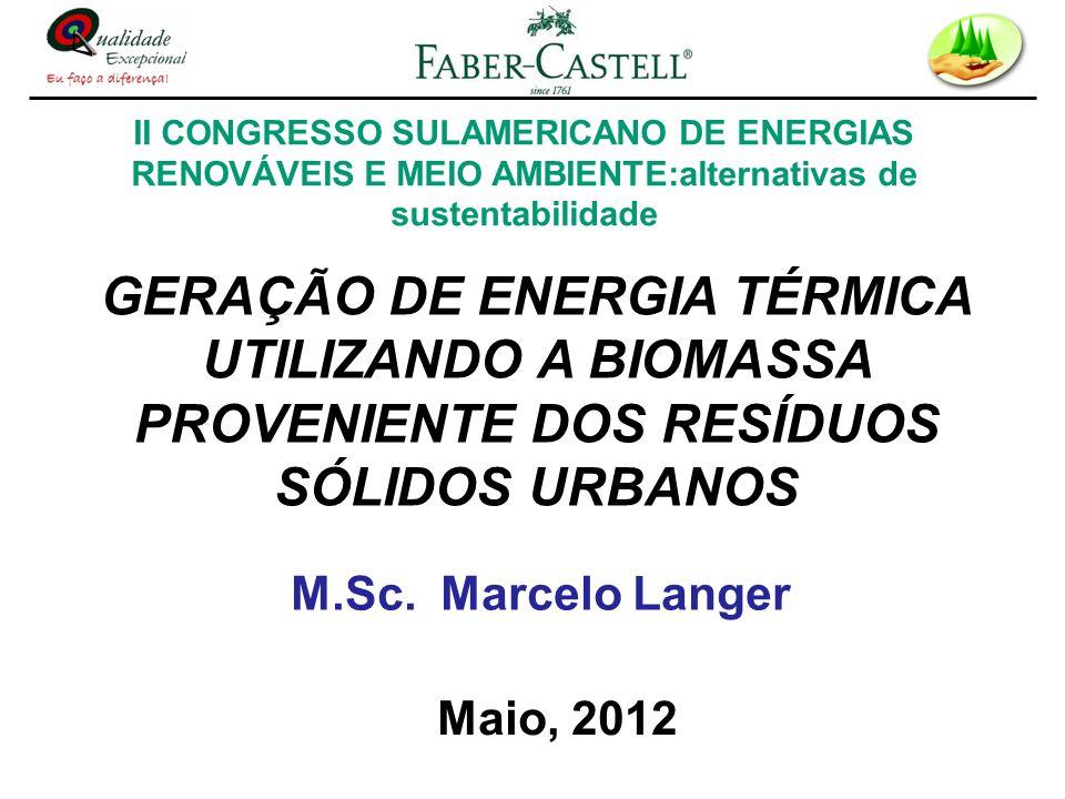 II CONGRESSO SULAMERICANO DE ENERGIAS RENOVÁVEIS E MEIO AMBIENTE:alternativas de sustentabilidade