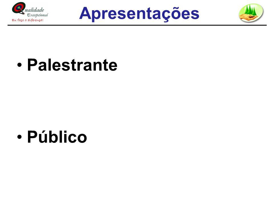 Apresentações Palestrante Público