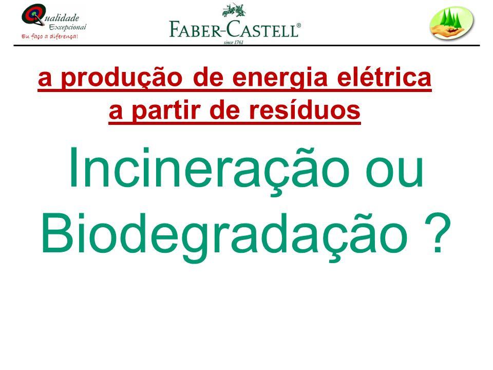 a produção de energia elétrica a partir de resíduos