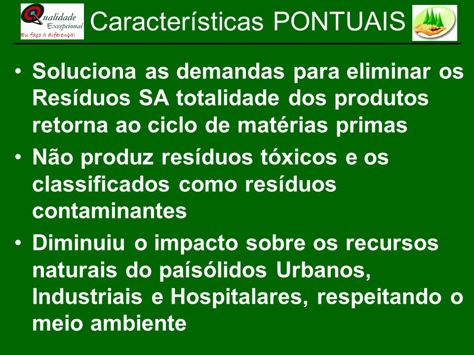 Características PONTUAIS