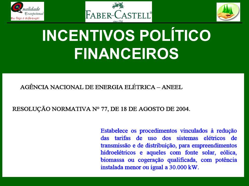 INCENTIVOS POLÍTICO FINANCEIROS