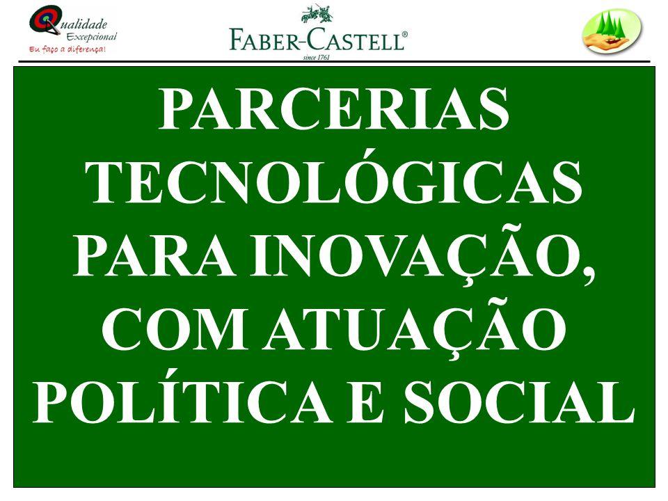PARCERIAS TECNOLÓGICAS PARA INOVAÇÃO, COM ATUAÇÃO POLÍTICA E SOCIAL