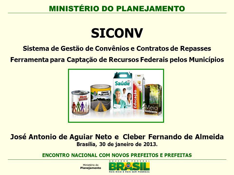 SICONV Sistema de Gestão de Convênios e Contratos de Repasses. Ferramenta para Captação de Recursos Federais pelos Municípios.