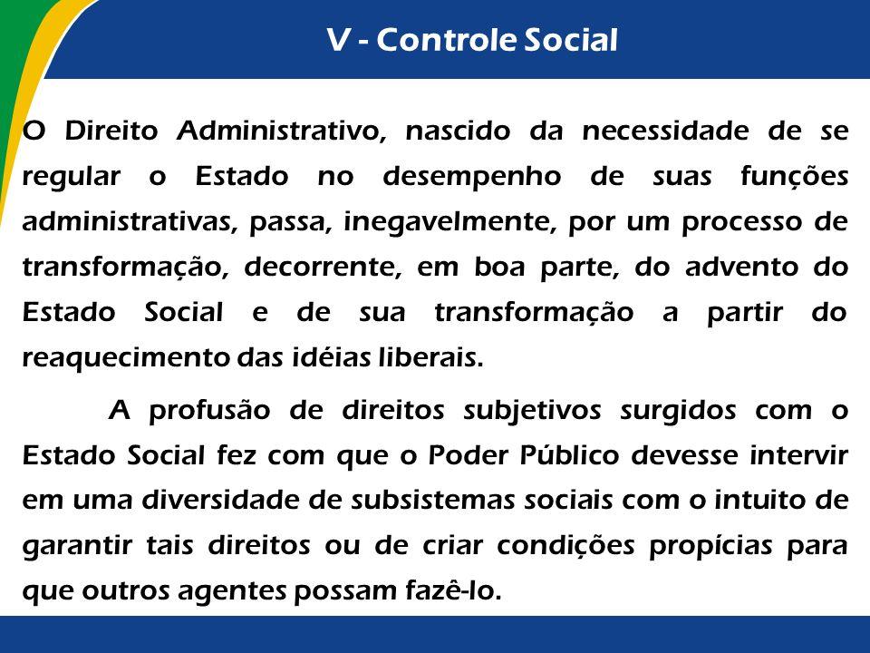 V - Controle Social