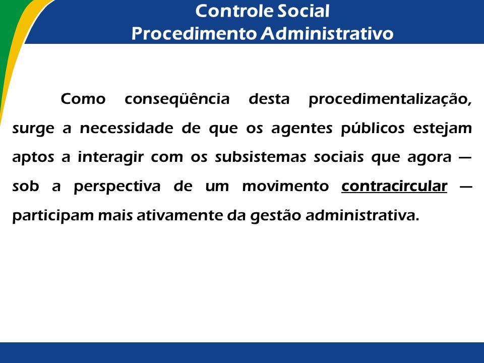 Controle Social Procedimento Administrativo