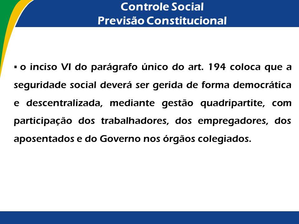 Controle Social Previsão Constitucional