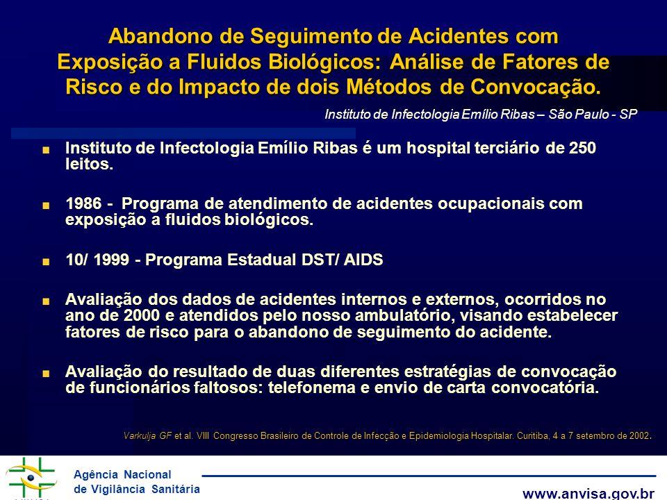 Abandono de Seguimento de Acidentes com Exposição a Fluidos Biológicos: Análise de Fatores de Risco e do Impacto de dois Métodos de Convocação.