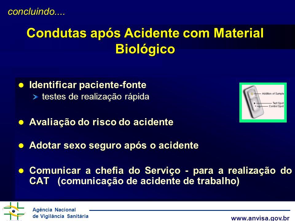 Condutas após Acidente com Material Biológico
