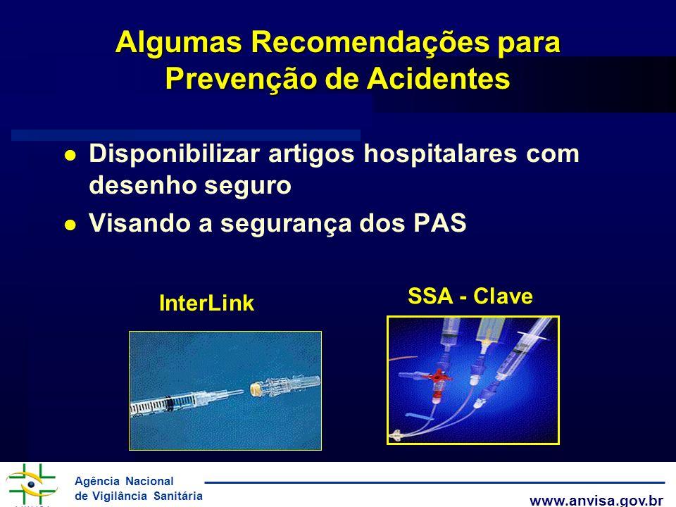 Algumas Recomendações para Prevenção de Acidentes