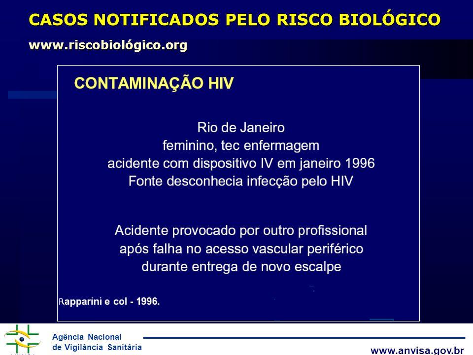 CASOS NOTIFICADOS PELO RISCO BIOLÓGICO www.riscobiológico.org