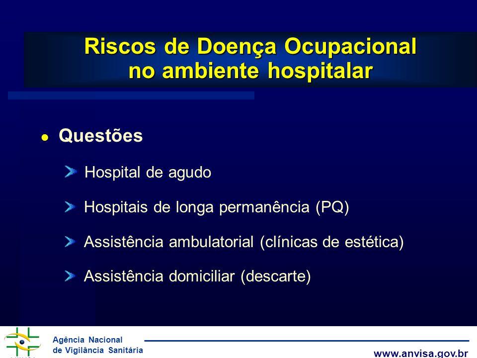 Riscos de Doença Ocupacional no ambiente hospitalar