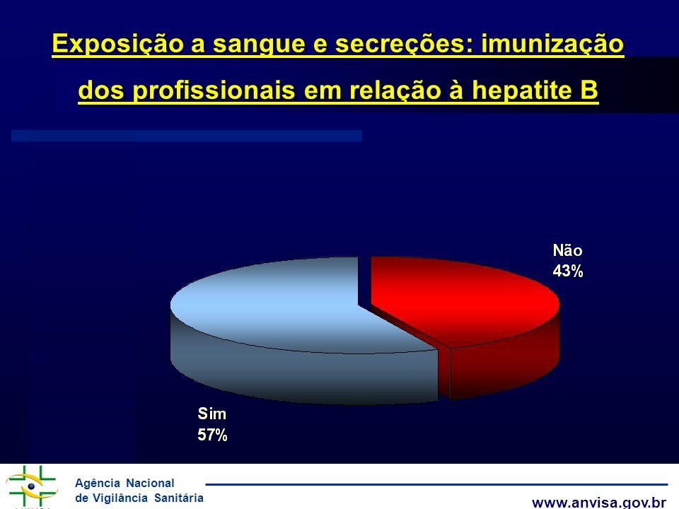 Exposição a sangue e secreções: imunização dos profissionais em relação à hepatite B