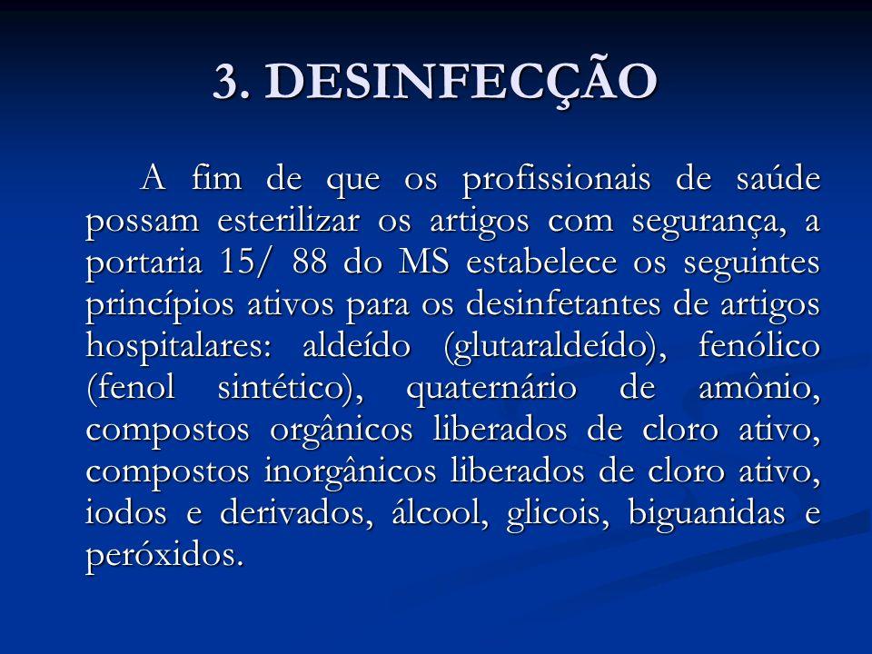 3. DESINFECÇÃO