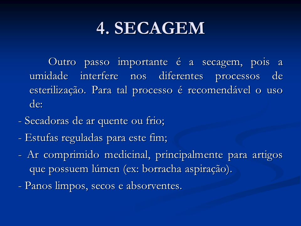 4. SECAGEM