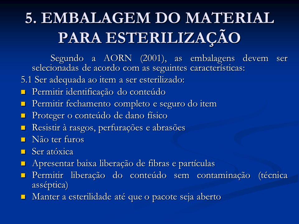 5. EMBALAGEM DO MATERIAL PARA ESTERILIZAÇÃO