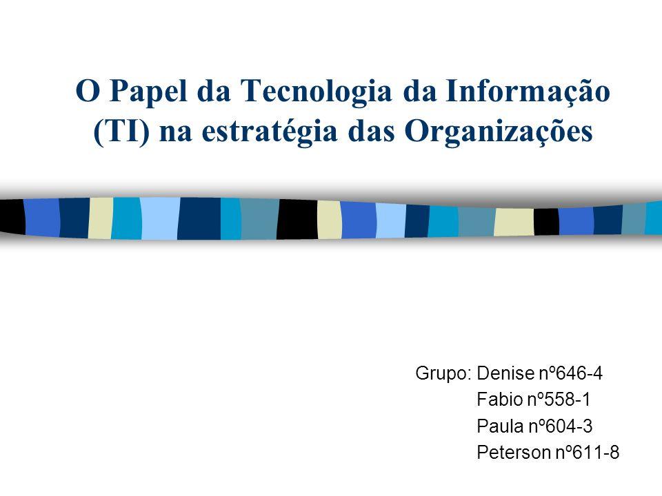 Grupo: Denise nº646-4 Fabio nº558-1 Paula nº604-3 Peterson nº611-8