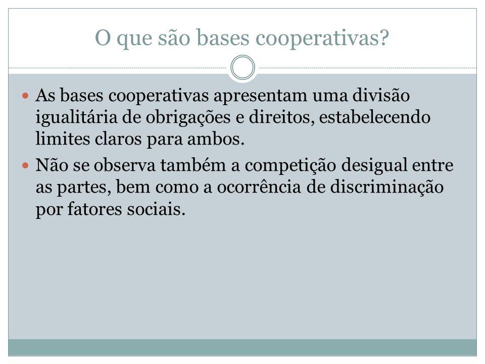O que são bases cooperativas