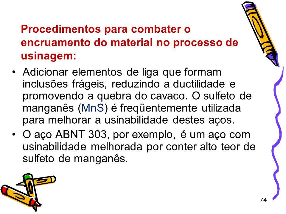Procedimentos para combater o encruamento do material no processo de usinagem: