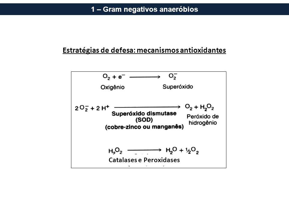 Estratégias de defesa: mecanismos antioxidantes