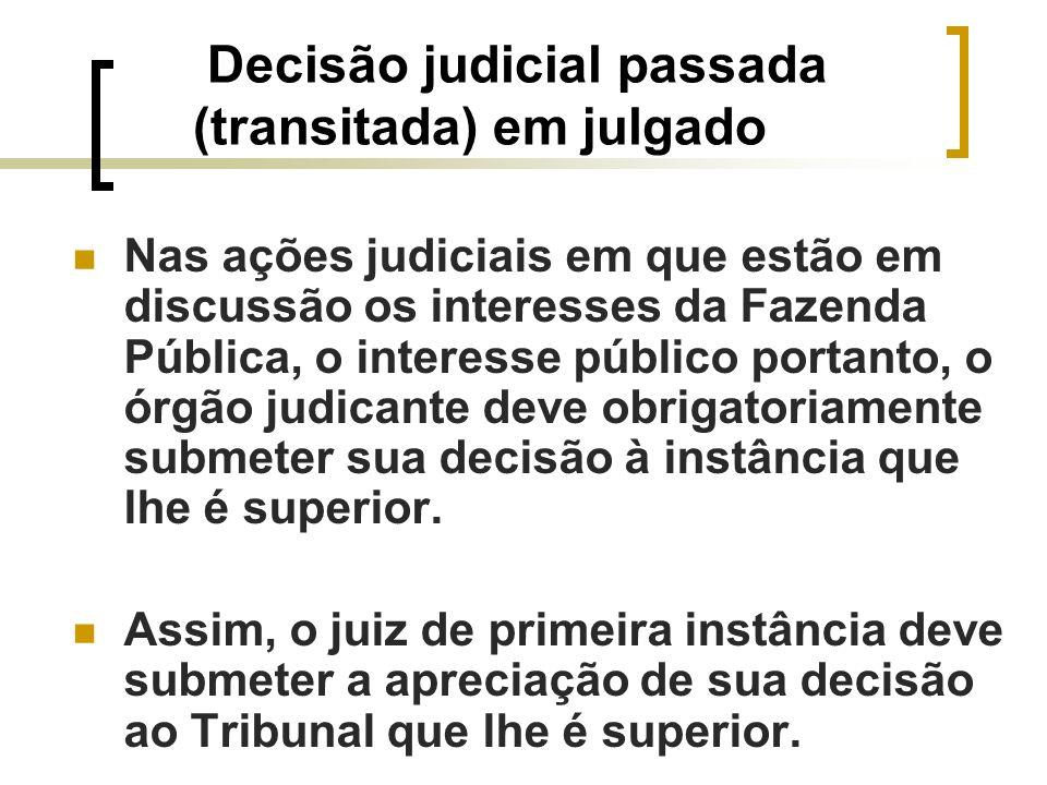 Decisão judicial passada (transitada) em julgado