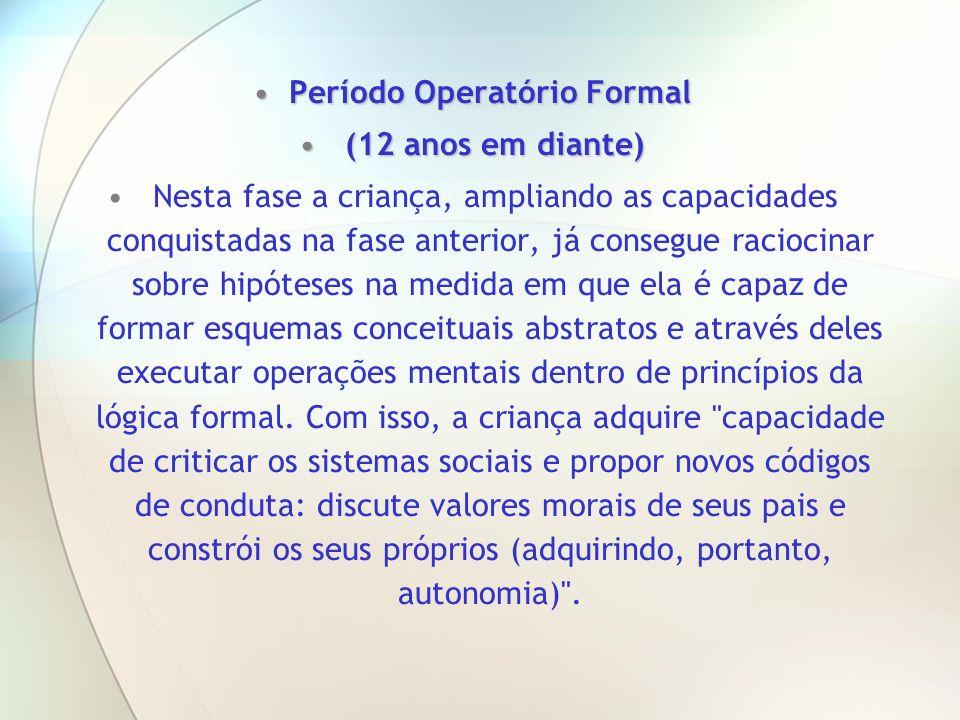 Período Operatório Formal