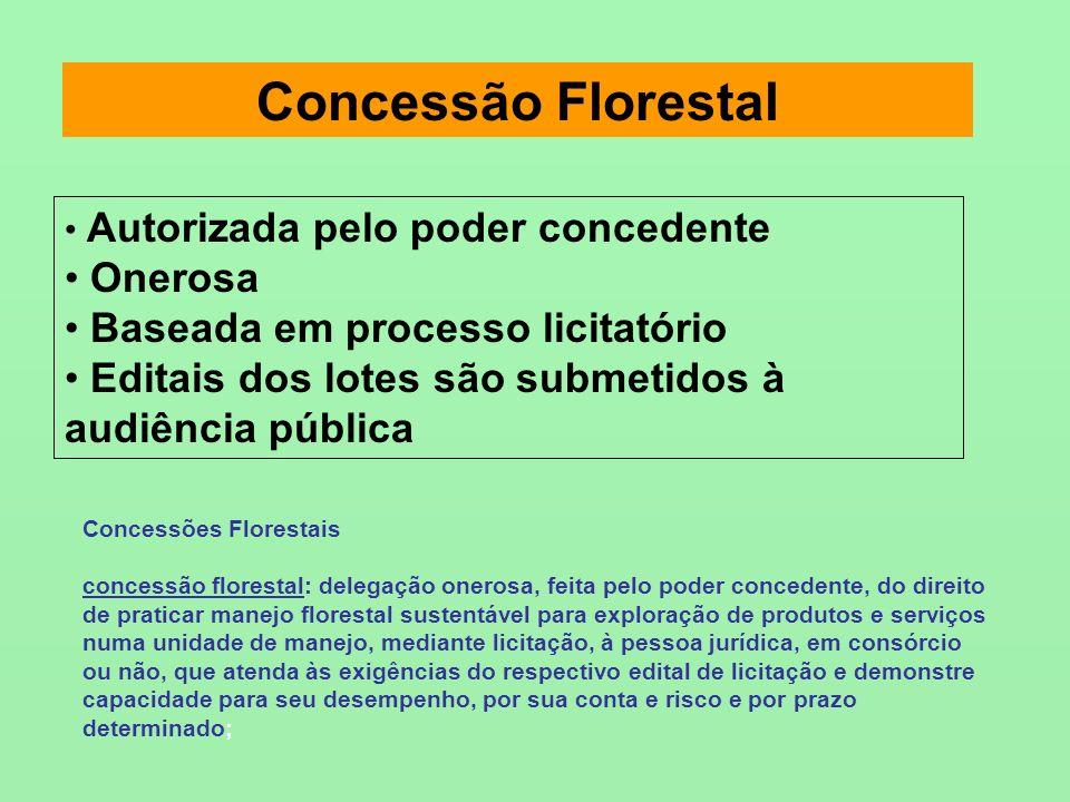 Concessão Florestal Onerosa Baseada em processo licitatório