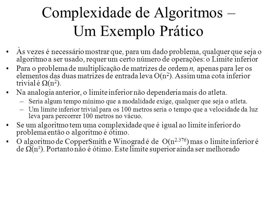 Complexidade de Algoritmos – Um Exemplo Prático