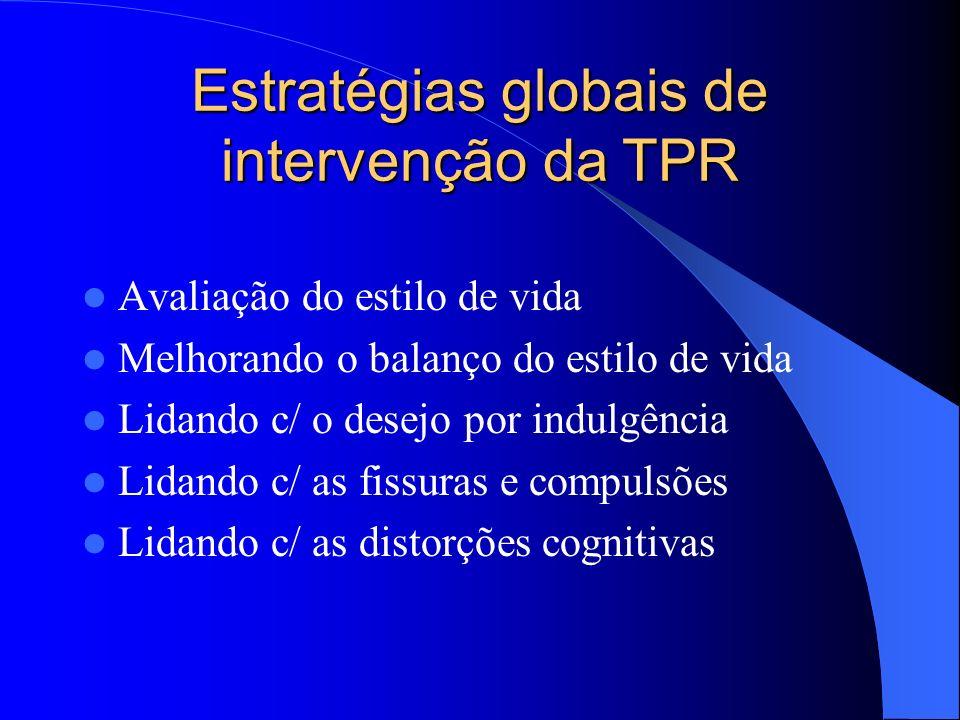Estratégias globais de intervenção da TPR