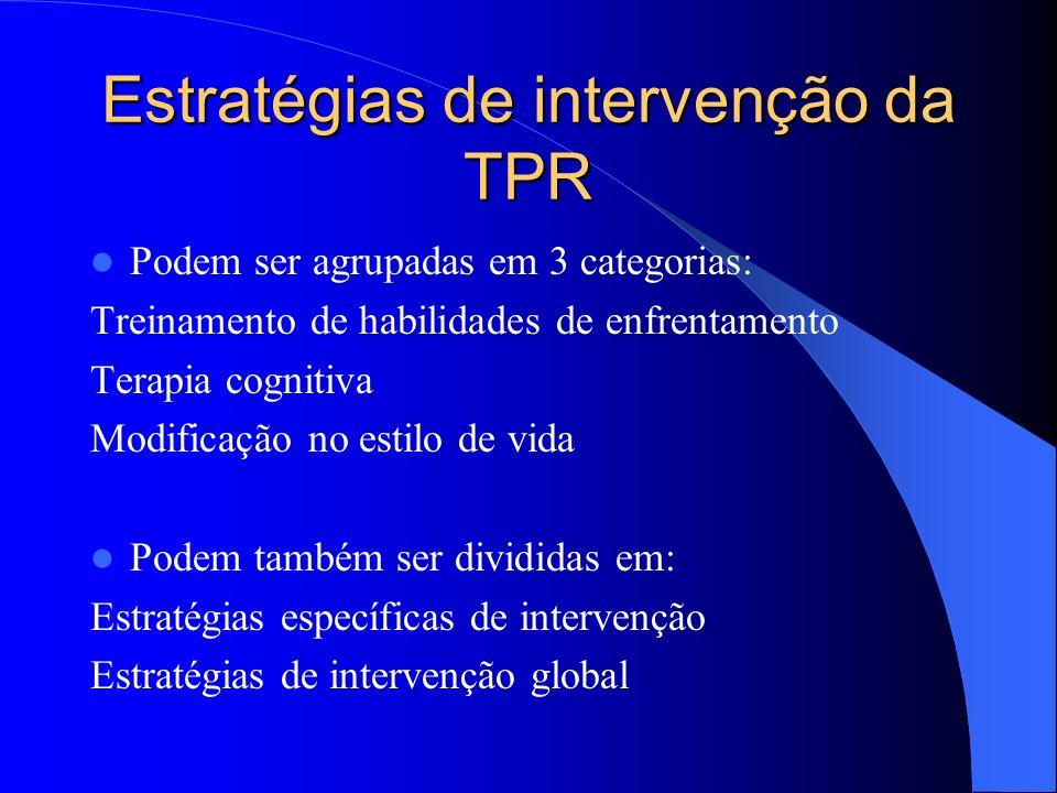 Estratégias de intervenção da TPR