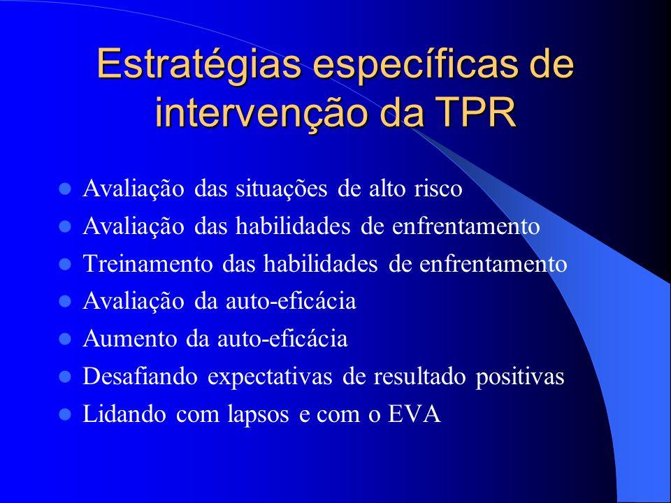 Estratégias específicas de intervenção da TPR