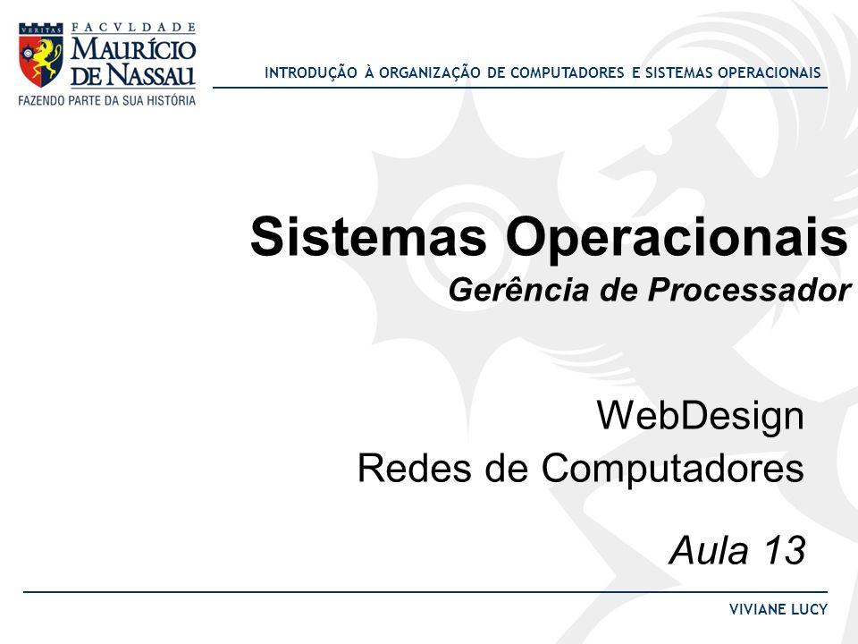 Sistemas Operacionais Gerência de Processador