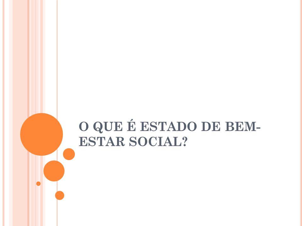 O QUE É ESTADO DE BEM-ESTAR SOCIAL
