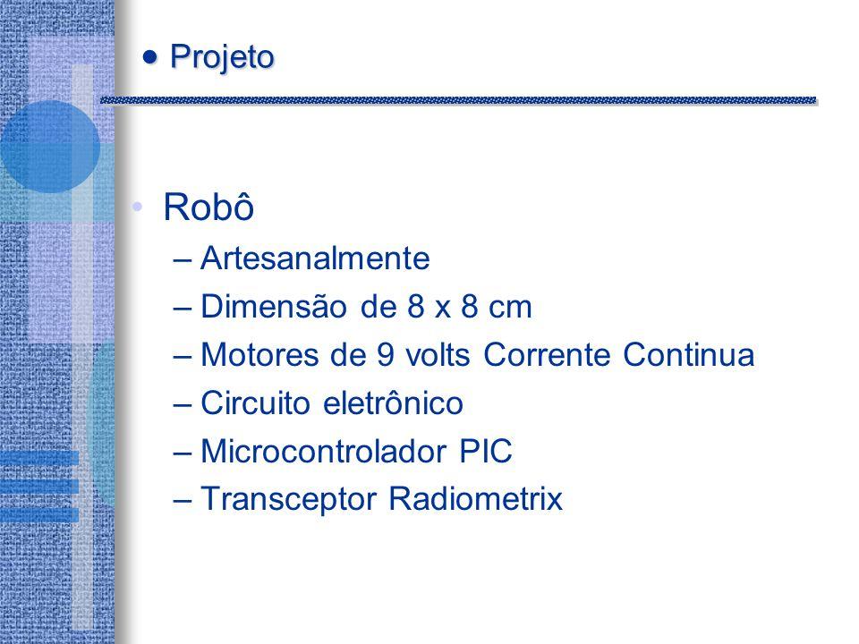 Projeto Robô Artesanalmente Dimensão de 8 x 8 cm