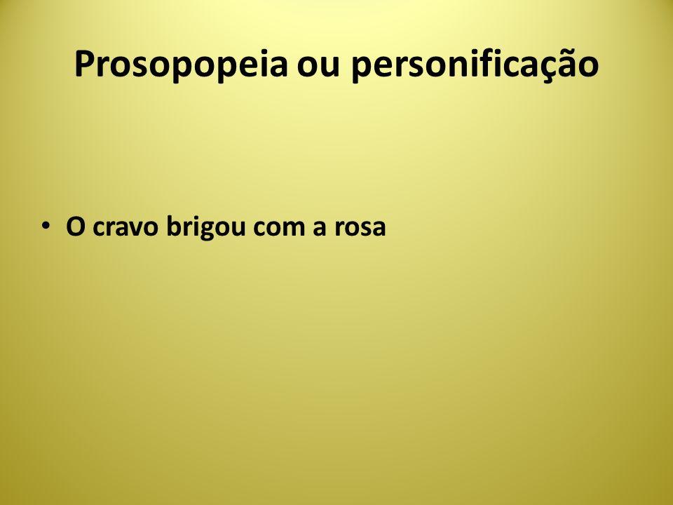 Prosopopeia ou personificação