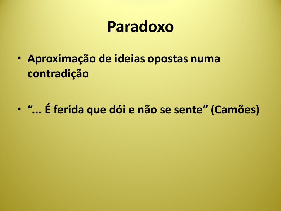 Paradoxo Aproximação de ideias opostas numa contradição