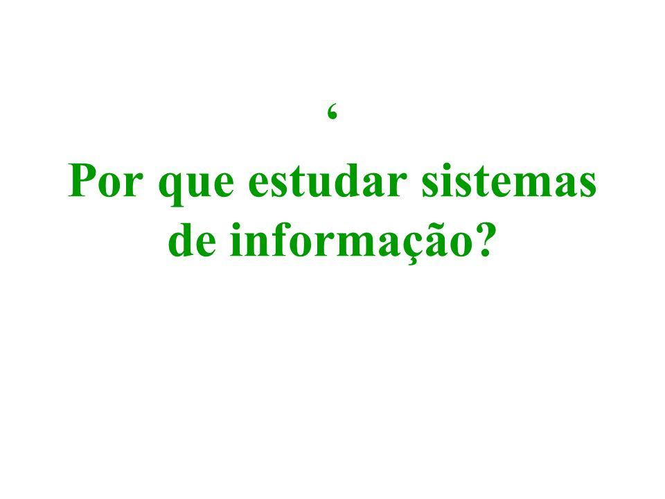 ' Por que estudar sistemas de informação