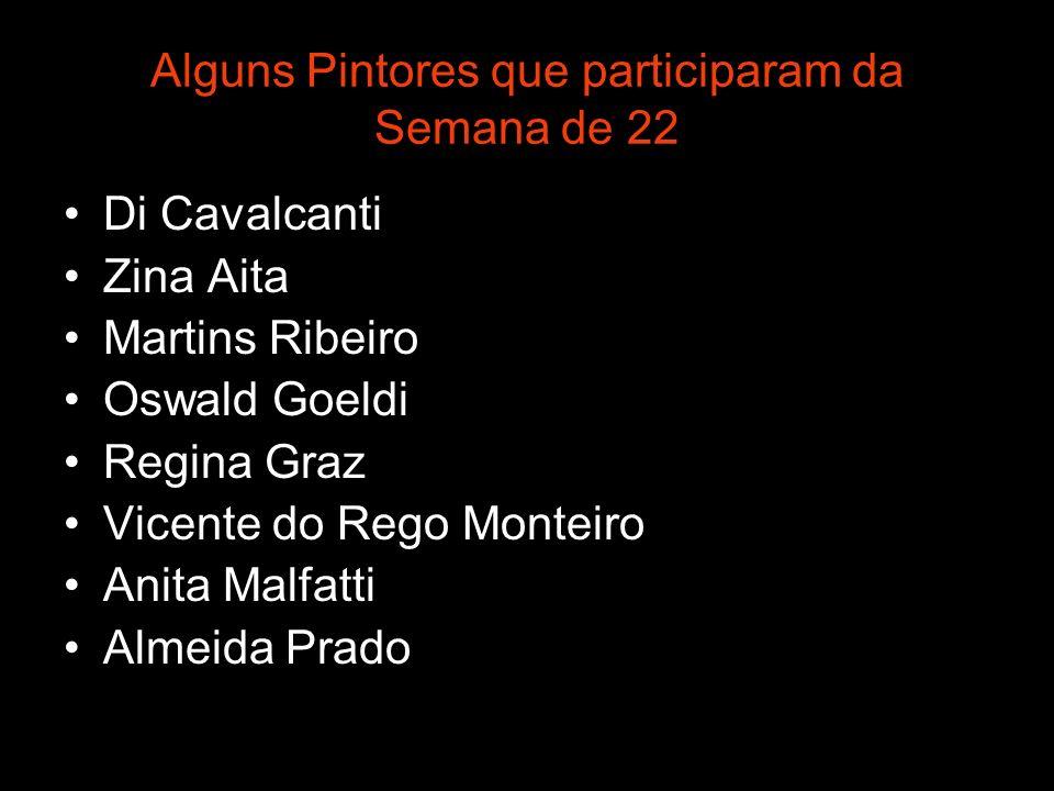 Alguns Pintores que participaram da Semana de 22