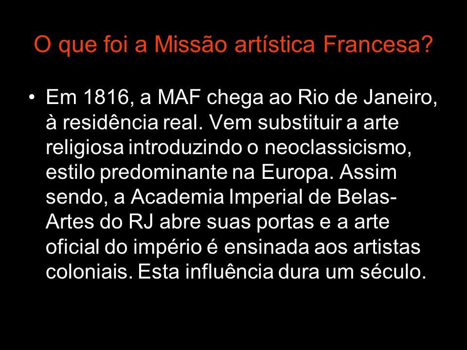 O que foi a Missão artística Francesa