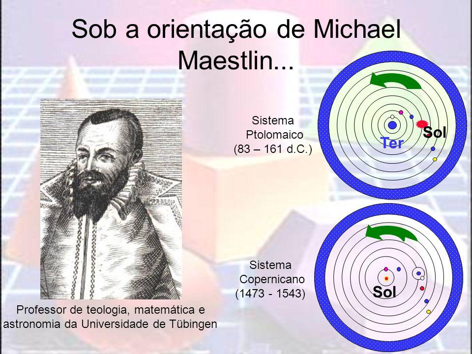 Sob a orientação de Michael Maestlin...