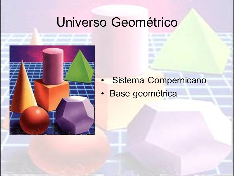 Universo Geométrico Sistema Compernicano Base geométrica