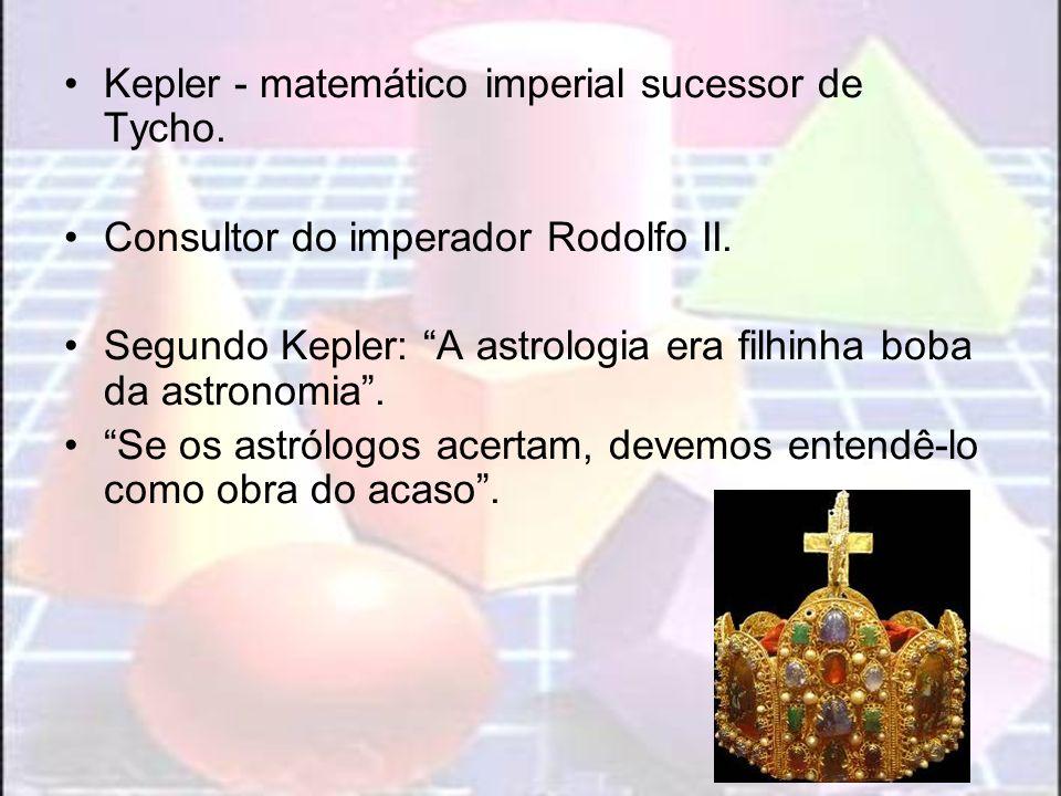 Kepler - matemático imperial sucessor de Tycho.