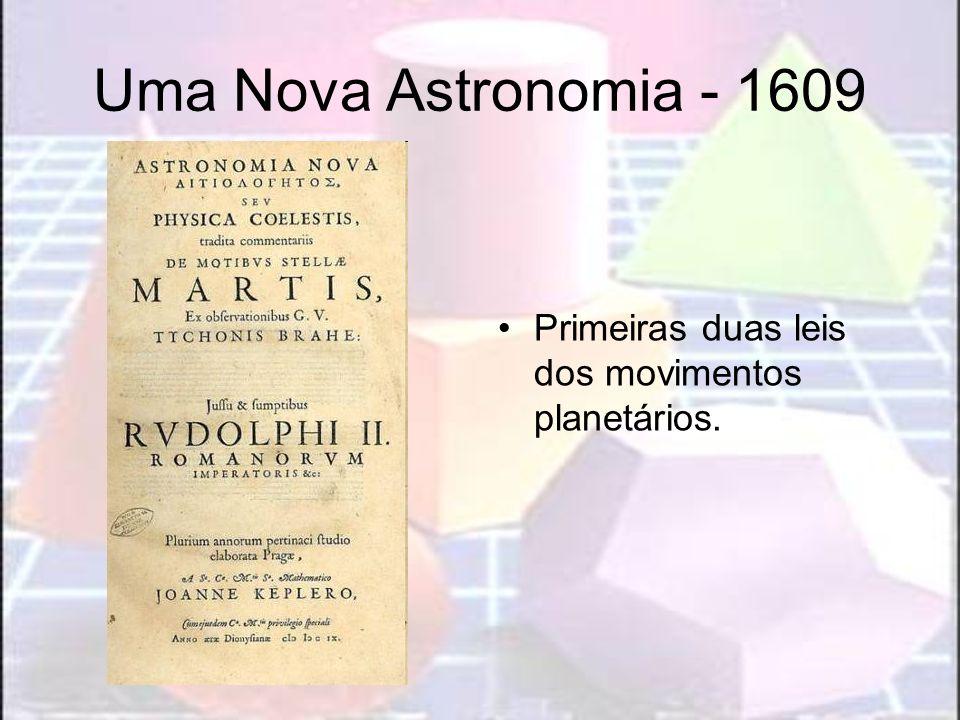 Uma Nova Astronomia - 1609Primeiras duas leis dos movimentos planetários.